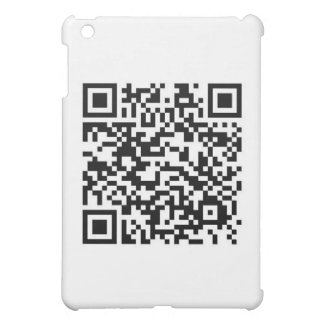 QR barcode Thanks for scanning me iPad Mini Cover
