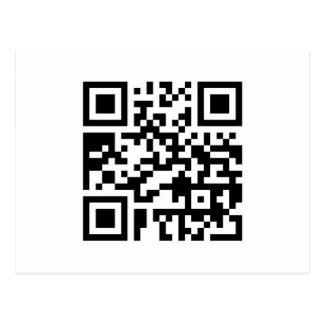QR Barcode: Wanna have a drink with me? Postcard