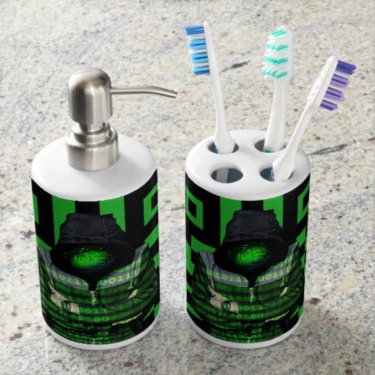 QR Binary Bathroom Set