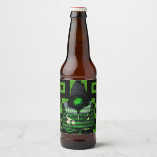QR Binary Beer Bottle Label