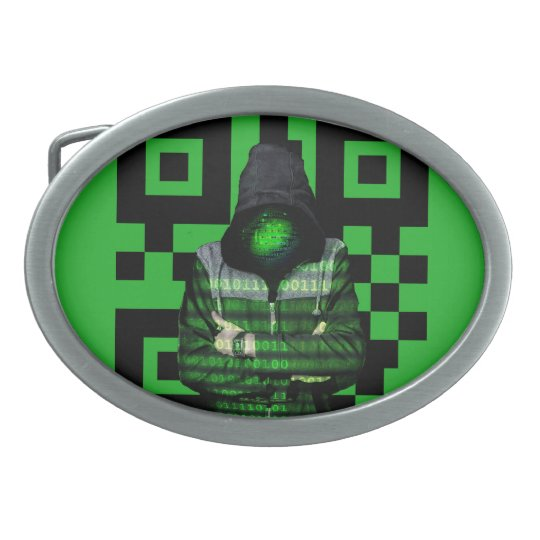 QR Binary Belt Buckles
