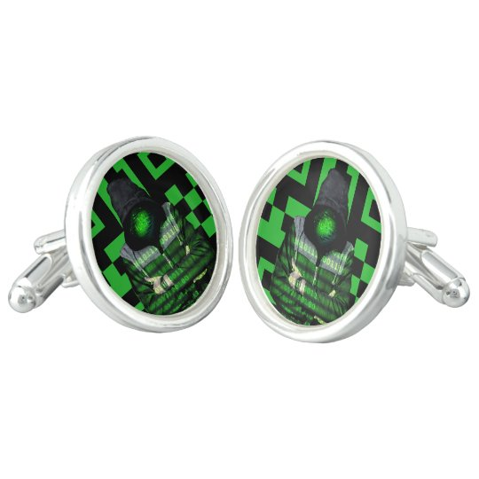 QR Binary Cufflinks