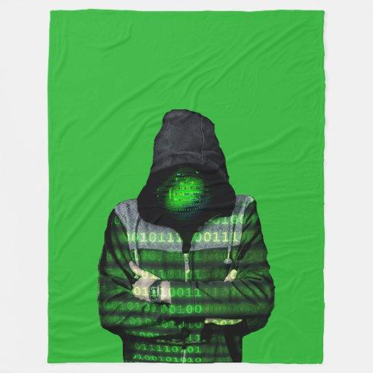QR Binary Fleece Blanket