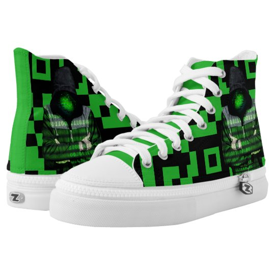 QR Binary High Tops