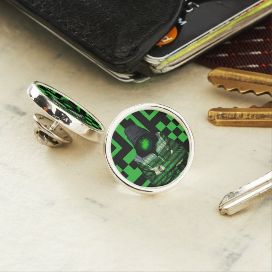 QR Binary Lapel Pin
