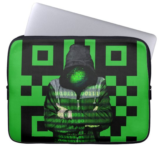 QR Binary Laptop Sleeve
