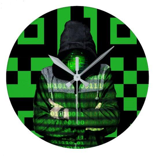 QR Binary Large Clock