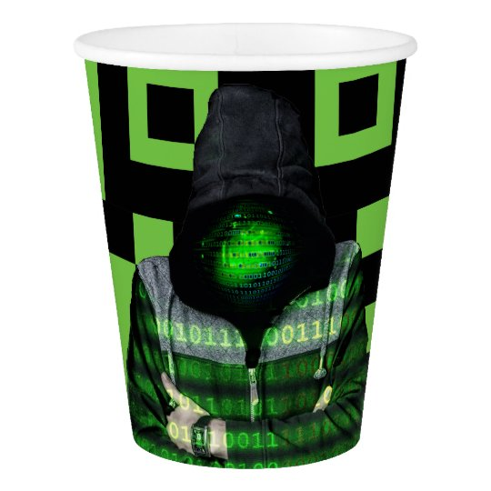 QR Binary Paper Cup