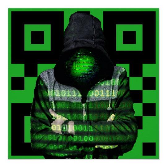 QR Binary Poster