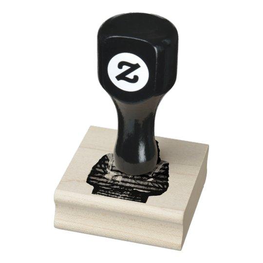 QR Binary Rubber Stamp