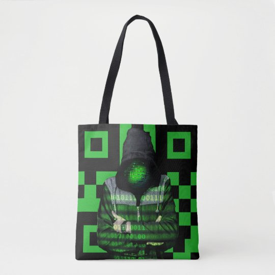QR Binary Tote Bag