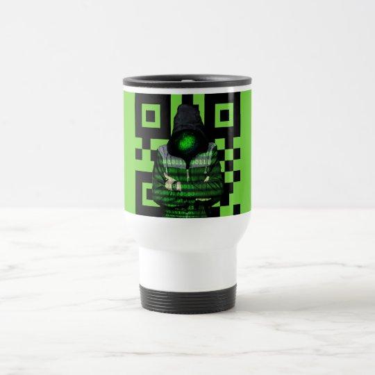 QR Binary Travel Mug