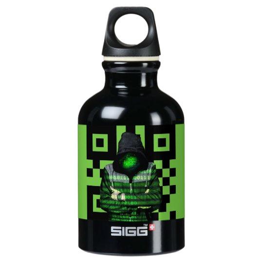 QR Binary Water Bottle