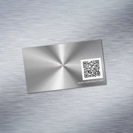 QR Code Ad Plain Sliver Metal Stainless Steel