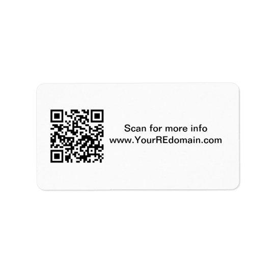 QR Code Address Label