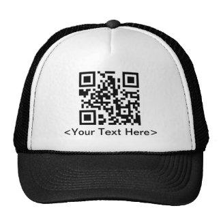 QR Code Baseball Cap With Editable Text