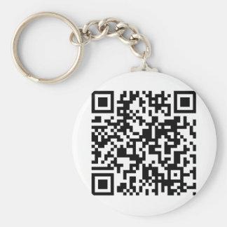 QR Code Basic Round Button Key Ring