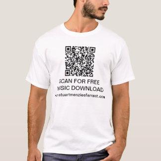 QR code Basic T-Shirt Template - Customized