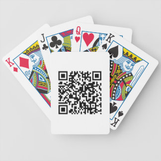 QR Code Bicycle Playing Cards
