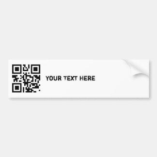 QR Code Bumper Sticker Template