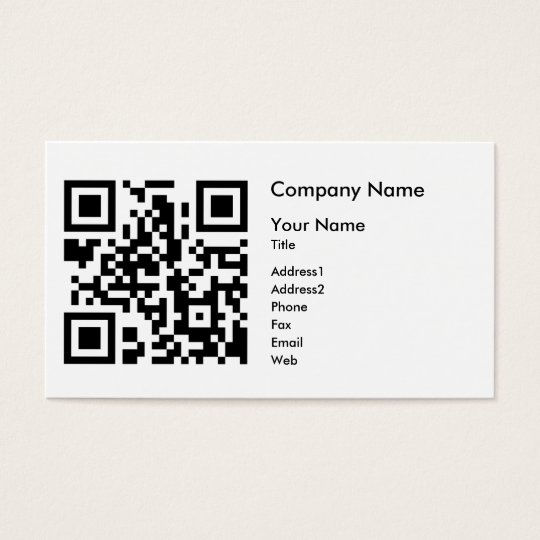 Qr Code Business Card Template Horizontal Zazzle Co Uk