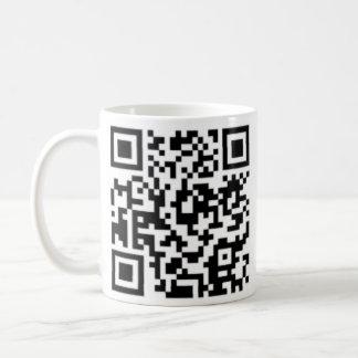 QR code Design Coffee Cup- Best on Black or Light Coffee Mug
