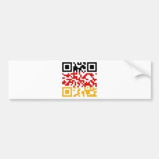 QR-Code-Deutschland Bumper Sticker
