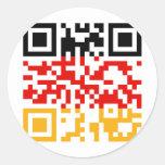 QR-Code-Deutschland Stickers