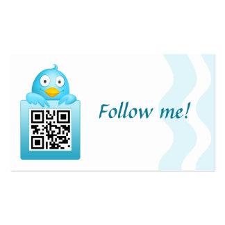 QR Code Follow Me Business Card Template