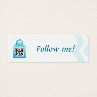 QR Code Follow Me Business Card Template (Skinny)