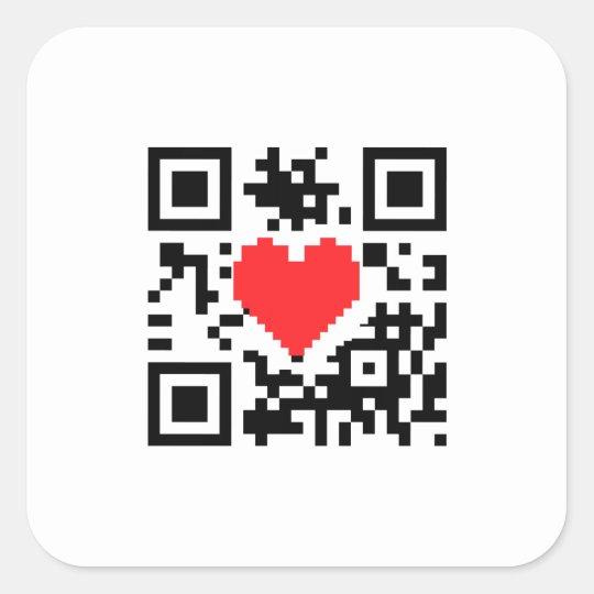 QR Code Heart Love Message  Sticker