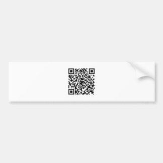 QR Code Junkie Style Bumper Sticker