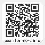 QR Code Large Square Square Sticker