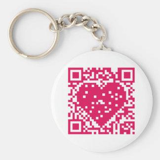 QR Code - Love Key Chain