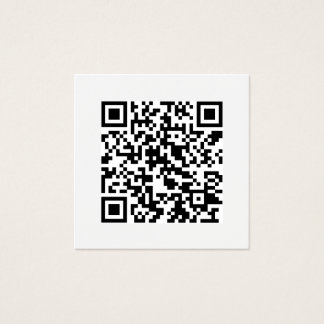 QR Code Minimal Social Media Modern Square Business Card