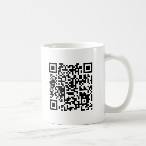 """qr code """"Point that phone somewhere else please"""" Coffee Mugs"""