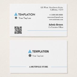 QR Code Professional Modern Business Card