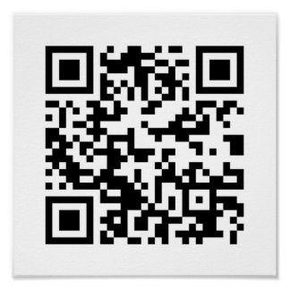 QR Code (Quick Response Code) - Black White Poster