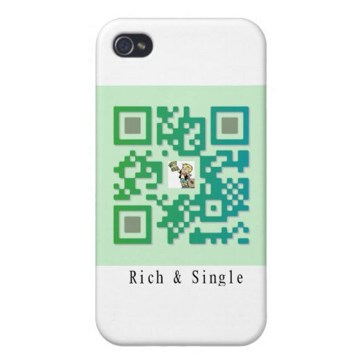Qr Code Rich & Single Case For iPhone 4
