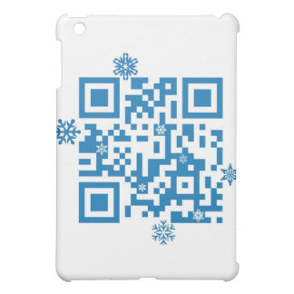 "QR Code Scans ""Merry Christmas!"" iPad Mini Cover"