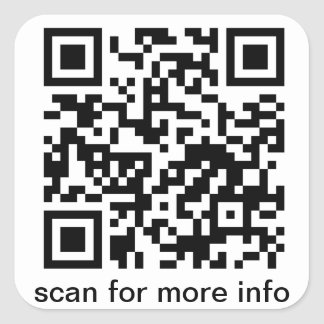 QR Code Small Square Square Sticker