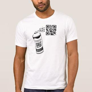 QR Code Spray Can T-Shirt