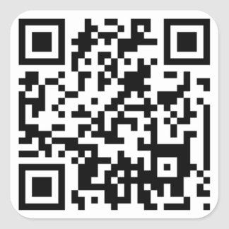 QR CODE SQUARE STICKER