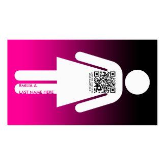 qr code stick figure business card template
