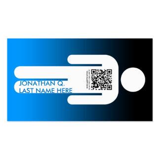 qr code stick figure pack of standard business cards