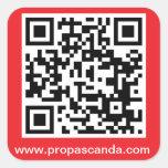 QR Code Sticker (Red Background)