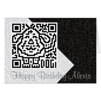 QR Code the Dog Greeting Card