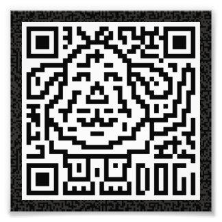 QR Code the Dog Photographic Print