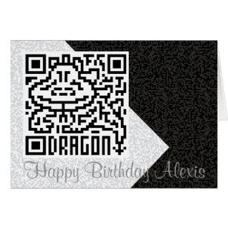 QR Code the Dragon Greeting Card