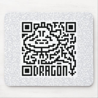 QR Code the Dragon Mouse Pad